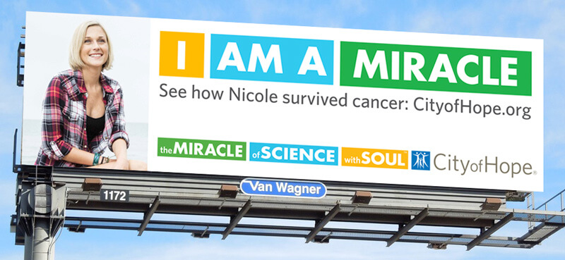 City of Hope. I AM A MIRACLE