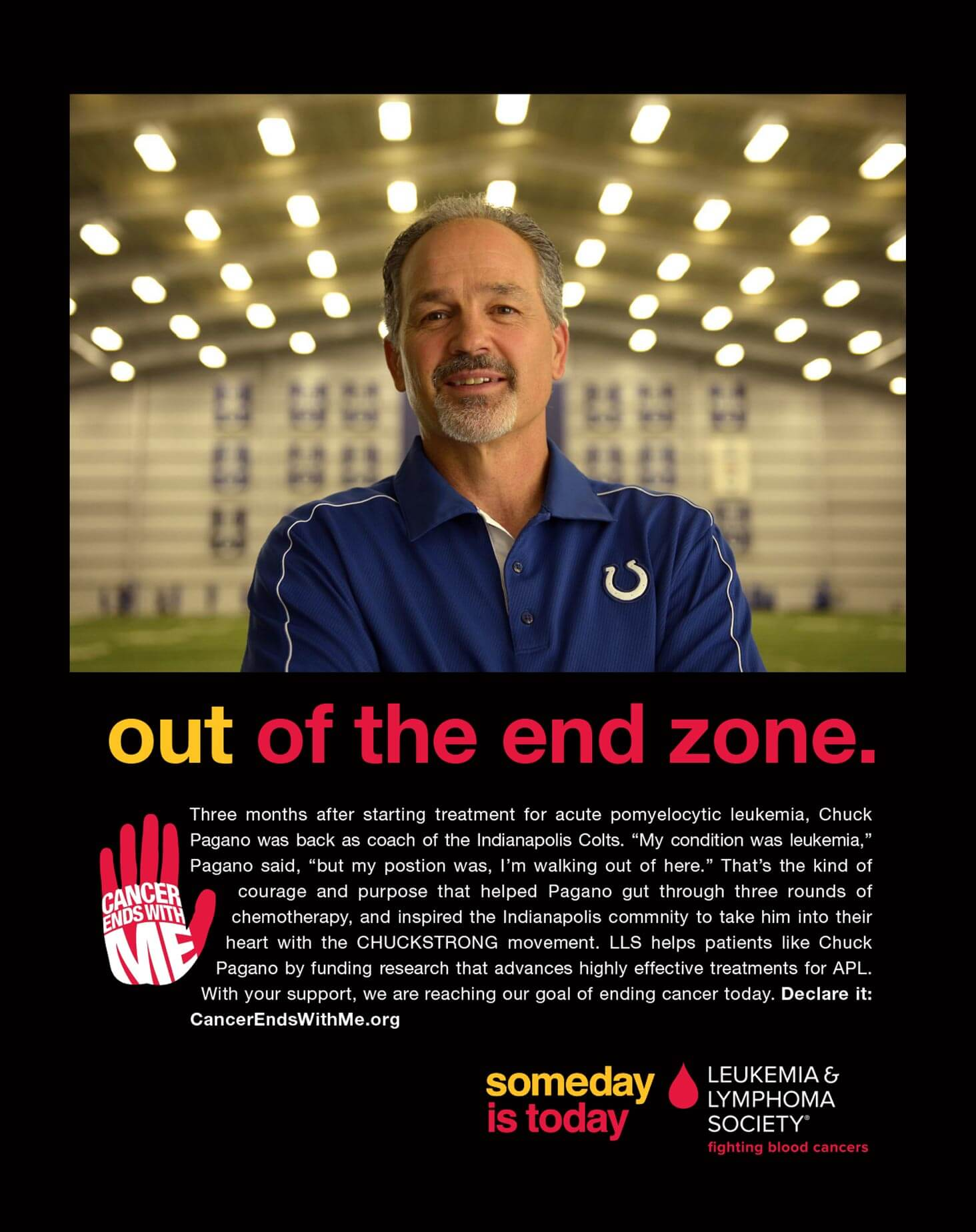 Leukemia & Lymphoma Society. Out of the end zone