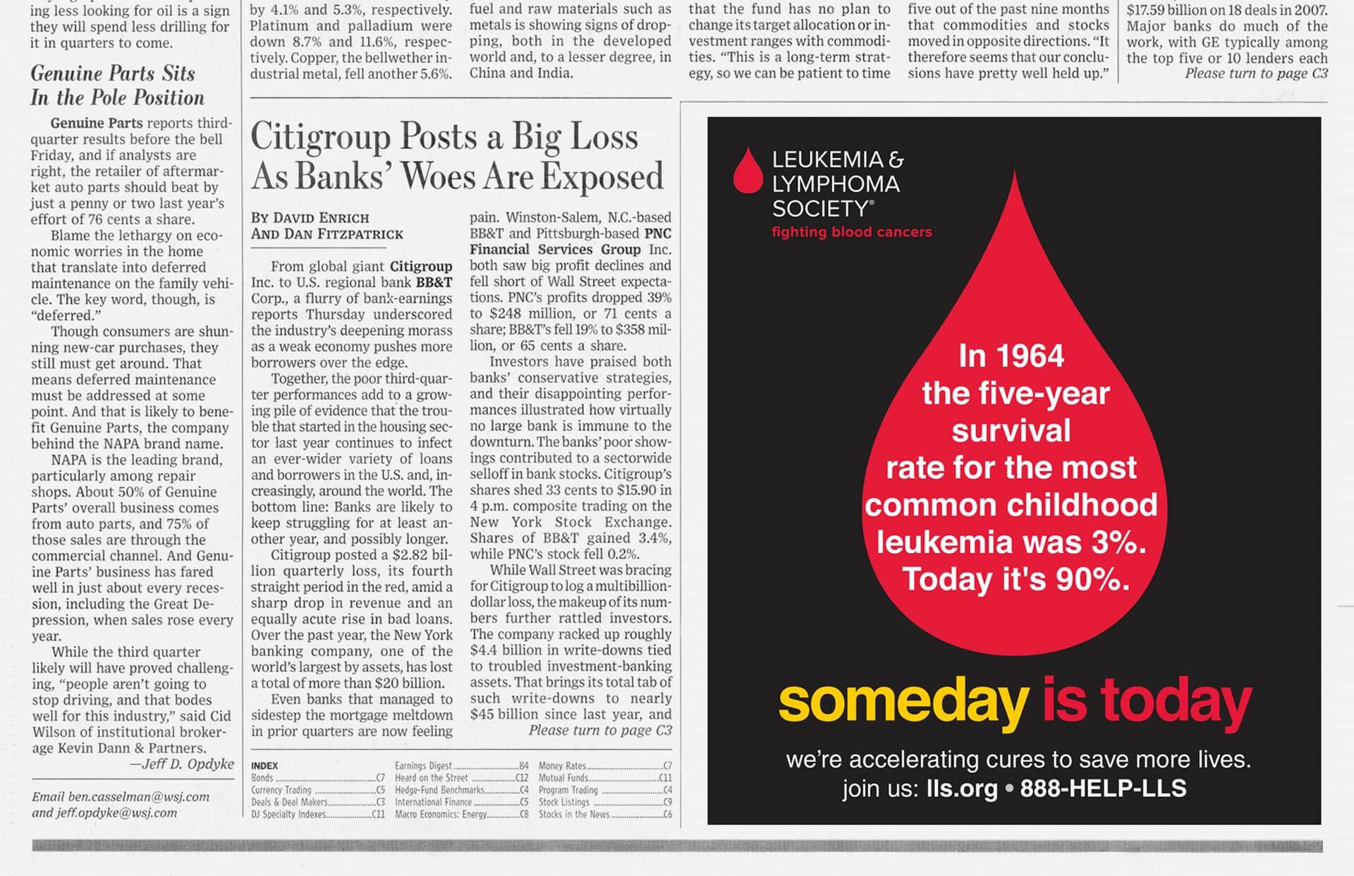 Leukemia & Lymphoma Society. Someday is today