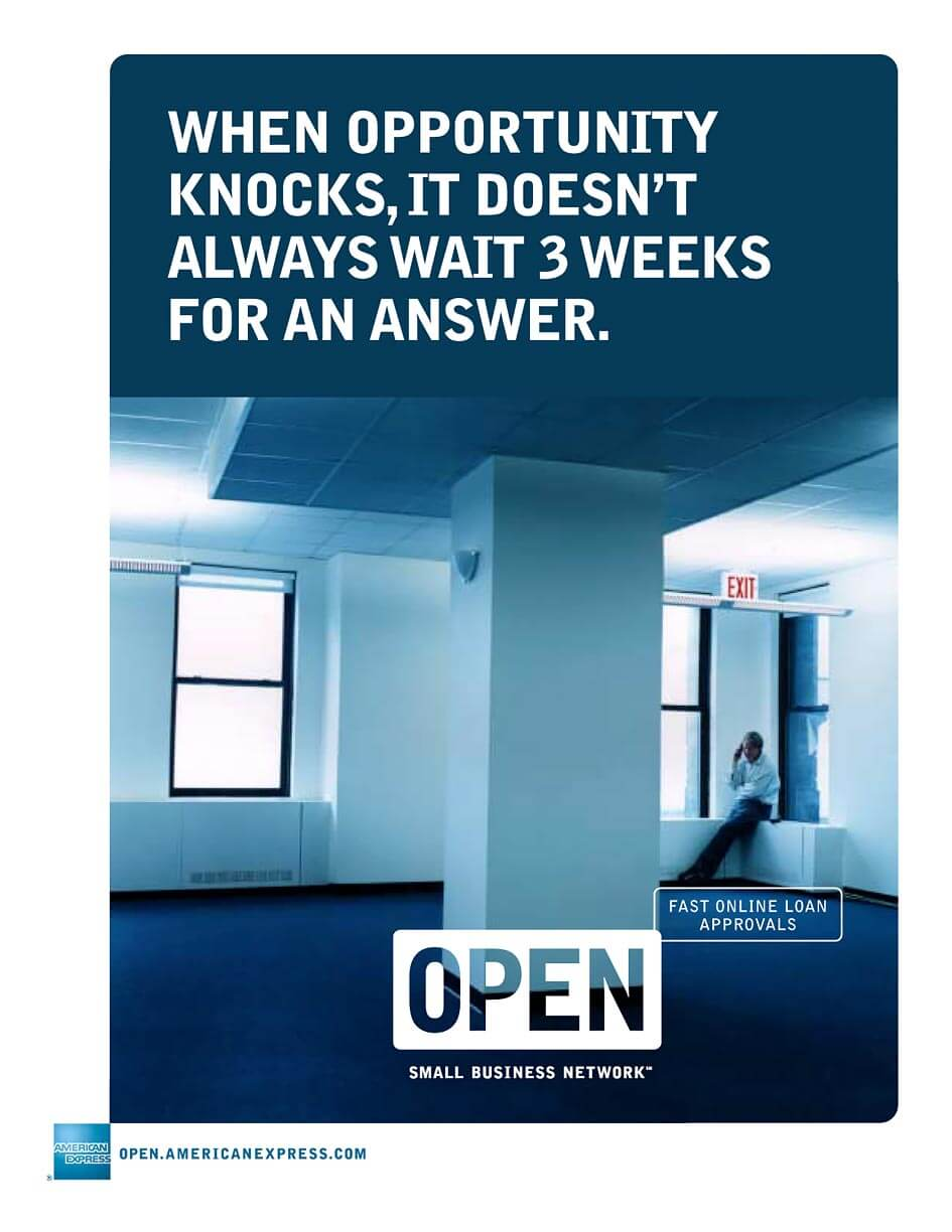 American Express. When Opportunity Knocks.